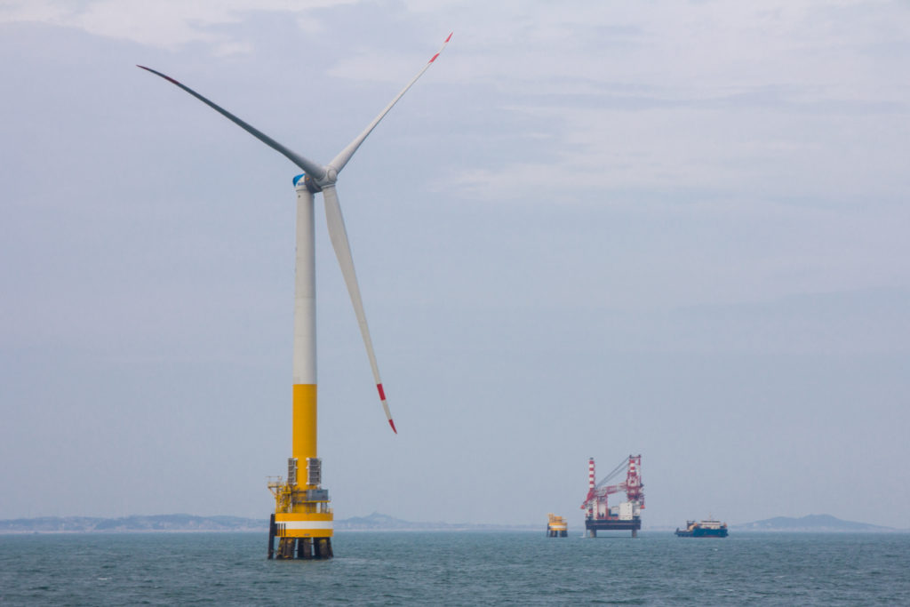 Pinghai Bay Chinese Offshore Wind Project Construction